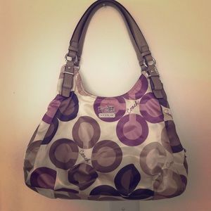 Purple and Tan coach purse
